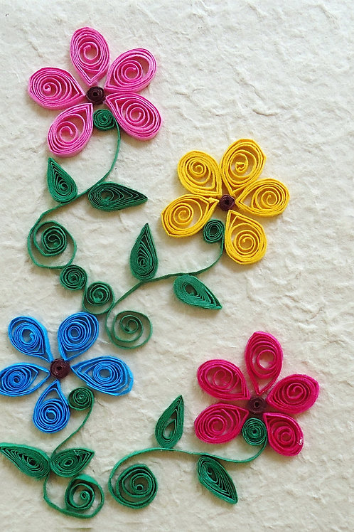 Quilled Notebooks - Four Rounded Flowers