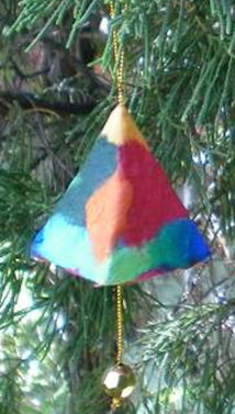 Saa Scrap Pyramid Decoration - Pack of 6