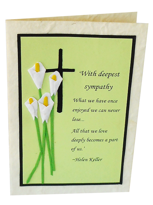 Bereavement Card with Quotation