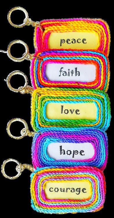 Aspirational Saa String Key Chains