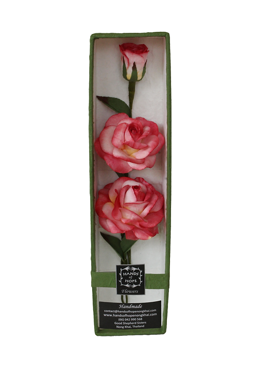Boxed Set of Three Roses