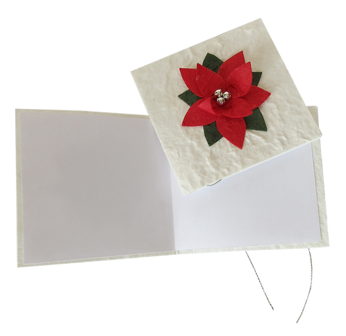 Poinsettia Gift tags-Set of Four