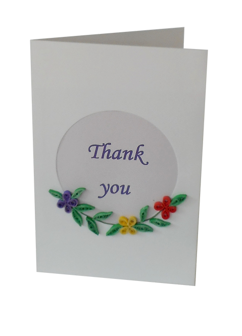 Quilled Circle Message Cards
