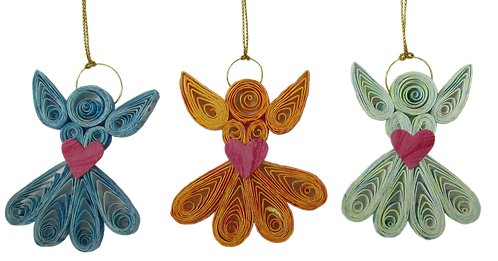 Quilled Christmas Decorations - pack
