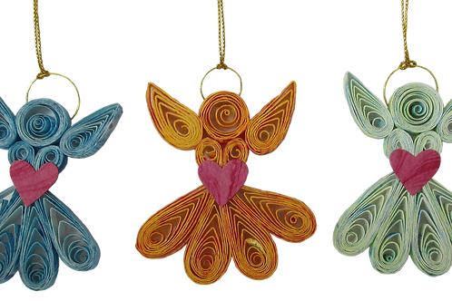 Quilled Christmas decorations- Tree Angels