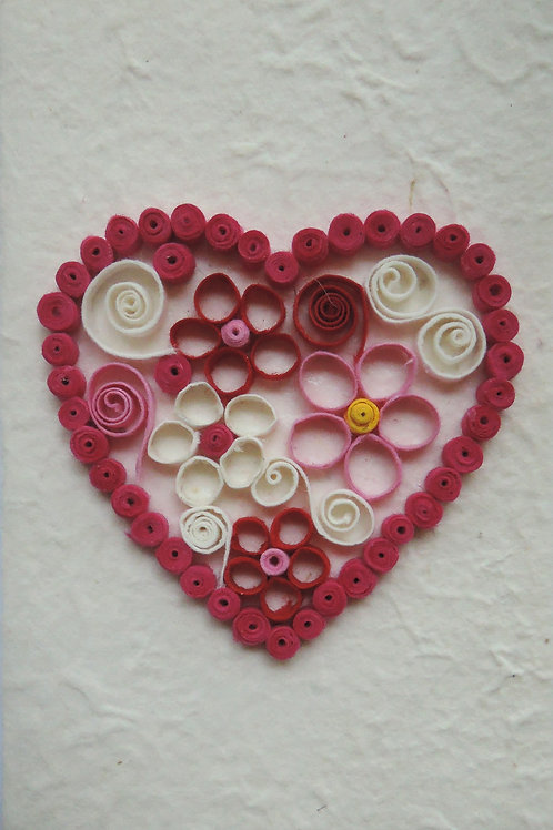 Quilled Heart on Saa