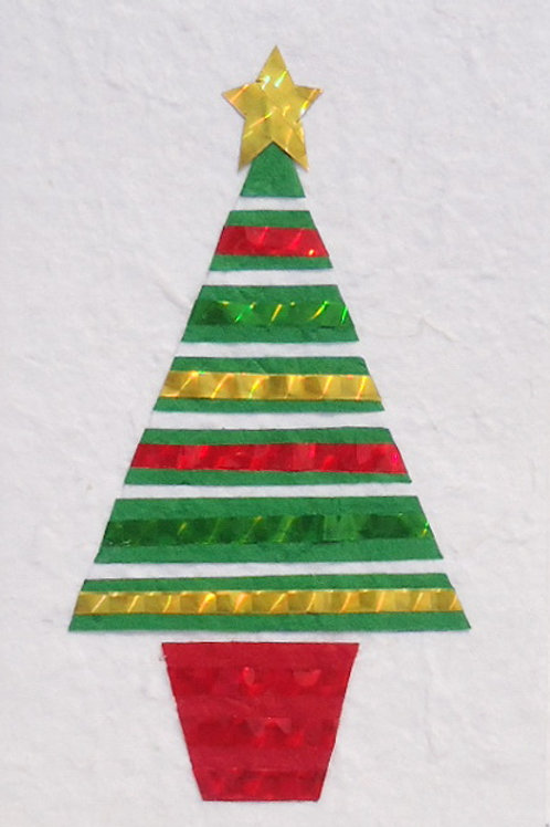 Striped Festive Card