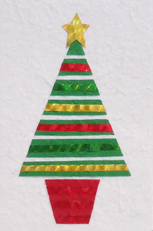 Striped Festive Card