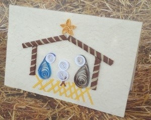 Lullaby & Lowly Stable Quilled Cards