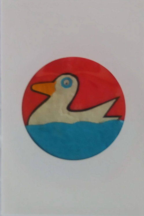 Cartoon Duck card