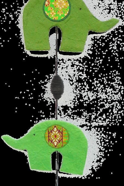 Elephant Wall Mobile - Green
