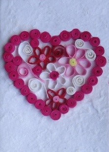 Heart Quilled on Saa Cards