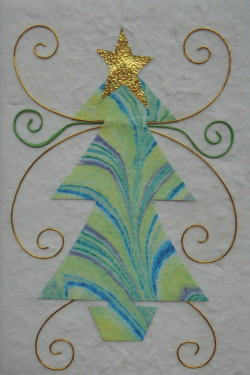Marbled Christmas Cards
