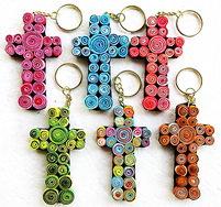 Saa Spiral Cross Keychain