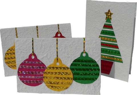 Striped Festive Cards