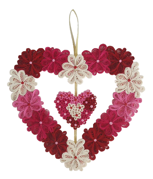 Quilled Heart Wreath