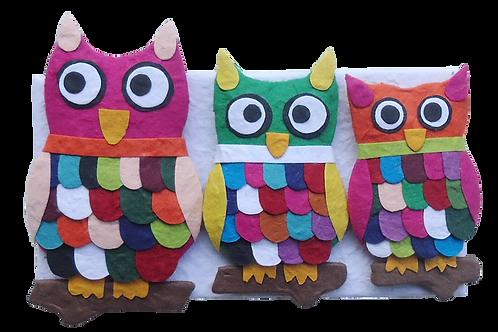 Owls in Miniature - Owl Fridge Magnets
