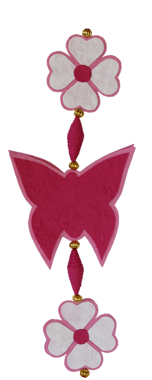 Pink Butterfly String