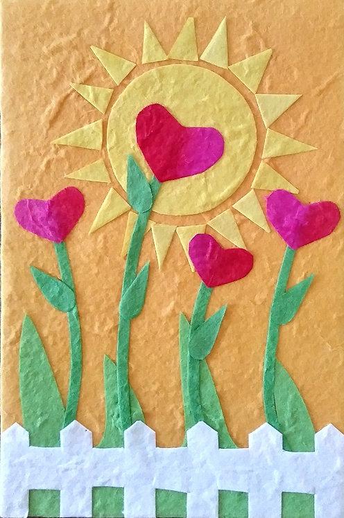 Love Grows card - Yellow