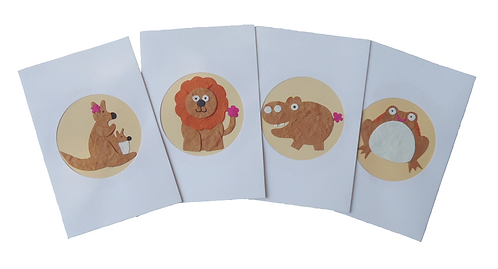 Wild Animal Cards (Brown Background)