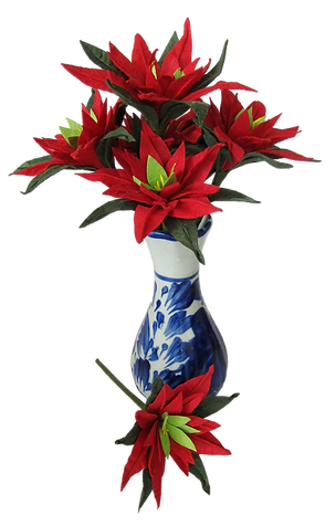 Poinsettia on wire in vase.png
