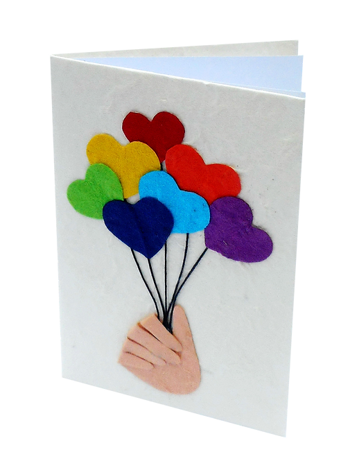 Heart Balloon Cards