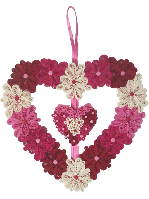 Quilled Heart Wreath