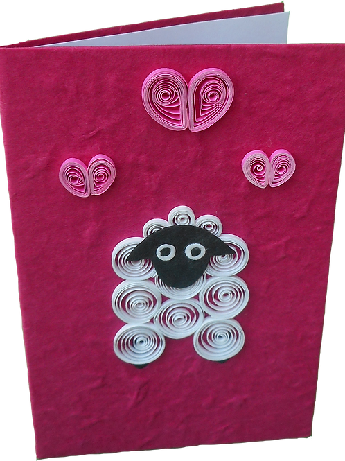Quilled Sheep Card