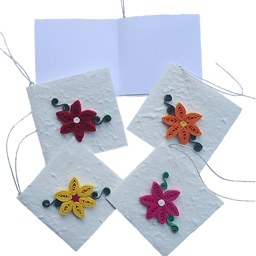Quilled Flower Gift Tags