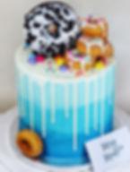 Blue Ombre Donut Cake.JPG