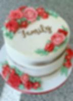 buttercream flowers semi naked cake fami