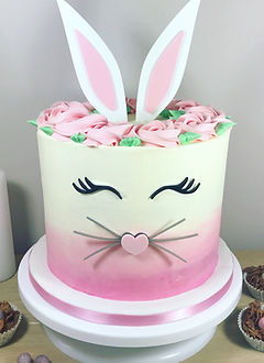 Easter Bunny Pink Cake.JPG