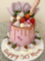 Lilac Champagne Cake Chocolate Strawberr