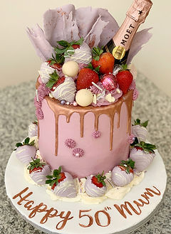 Lilac Champagne Cake Chocolate Strawberr