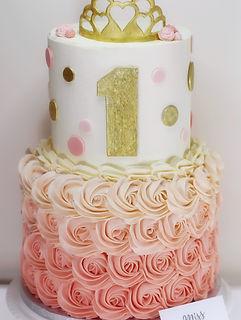 Peach Ombre Princess Rosette 1st Birthda