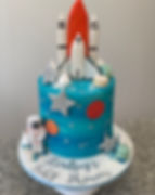 blue baby shower cake for boy rocket cak