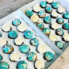 Mini Blue Cupcakes.JPG