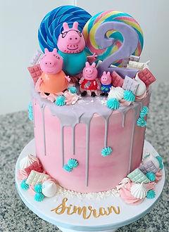Girls pink Peppa Pig Cake.jpg