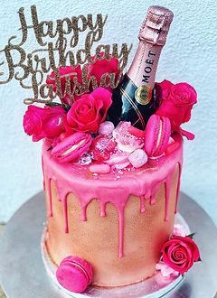 hot pink champagne glamorous cake.JPG