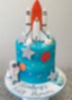 blue baby shower cake for boy rocket cak