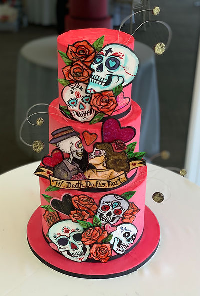 Day of the Dead Wedding cake  3.jpg