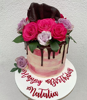 vegan fresh roses pink birthday cake.jpg