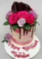 vegan fresh roses pink birthday cake.jpg