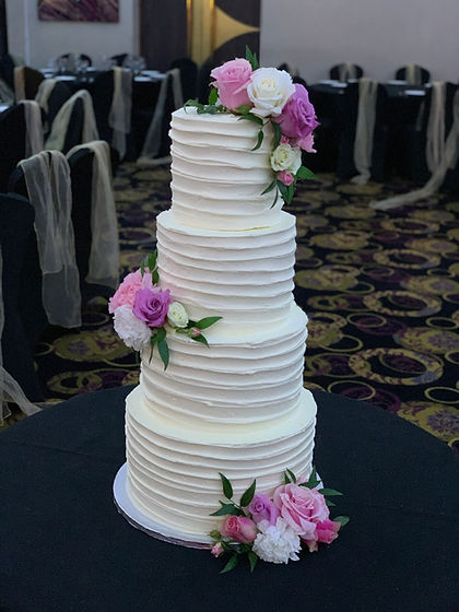 Wedding cake flowers midsummer nights dr