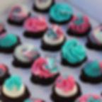 Hot Pink Turquoise Mini Cupcakes 2.JPG