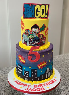 Teen Titans Go tiered cake 4.jpg