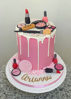 pink makeup cake mac lipstick birthday g