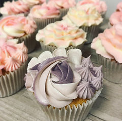 Pink and Purple Piping Cupcakes.JPG