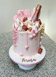 Pink Champagne Cake Meringes Macarons.jp