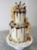 chocolate explosion popcorn teired cake